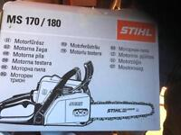 Stihl chainsaw used once