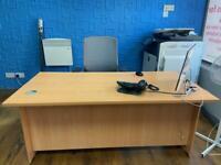 3 beech solid desk