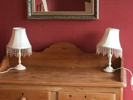 Pair of Laura Ashley table or bedside lamps