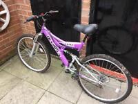 Ladies/girls 18 inch full suspension mountain bike