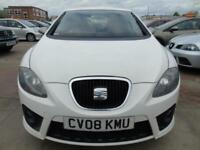 SEAT LEON 2.0 FR SPORT TDI 550 168 BHP FULL SERVICE 550 SPEC MUST BE SEEN (white) 2008