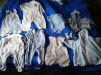 assortment 0 to 3 month baby clothes