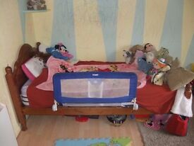 Wooden Single Bed Frame (CAN come with mattress)