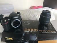 Nikon D5100, 18-55 VR Kit, barely used, in excellent condition