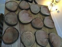 Rustic wedding wood slices X 12