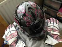 Ladies Shark Motor Cycle Helmet size M Never worn complete with bag £50 O N O