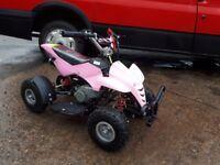Pink mini quad bike