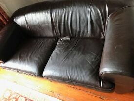 black leather 2.5 seats sofa