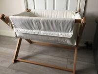 Saplings Katie crib - with mattress, sheets & blankets