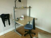 Ikea desk and desk chair
