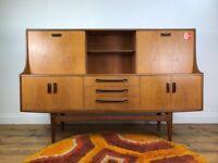Retro G Plan Sideboard - Vintage Teak Cabinet Cupboard Ercol Meredew Mcintosh