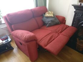 3 seater and 2 seater reclining sofas