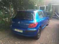 LHD Peugeot 307 XR, 1.6L, 5D, AC, CD, petrol, manual transmission. Spanish registration
