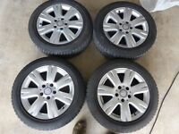 """Mercedes 16"""" Alloy Wheels with Winter Tyres Fitted"""