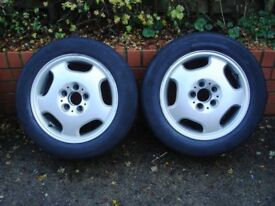 MERCEDES BENZ E300TD (W210) ALLOY and STEEL WHEELS AND HUB CAPS (WHEEL TRIMS)
