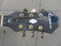 epiphone, electro acoustic guitar.