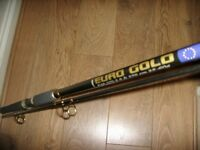 Fladen euro gold fishing rod 9ft brand new cost 39.99 . gold eye rings and reel seat