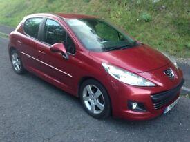 2010 Peugeot 207 Sport 1.6 HDi (110) 5 Door in Metallic Red, 152000 mls in Excellent Condition