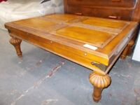 Solid Wood Carved Coffee Table…(30037B)
