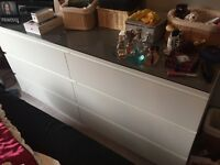 Ikea malm bedroom furniture, unit and 2 bedside cabinets