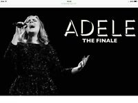 Adele tickets x2 wed 28th June **fantastic seats block 120 **