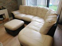 Sofa - leather, L shaped