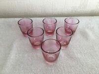Vintage Pink Shot Glasses