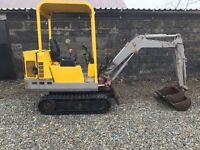 Pel job/Volvo 1.5ton mini digger/excavator 1300 hours no vat