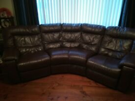 Beautiful brown leather suite