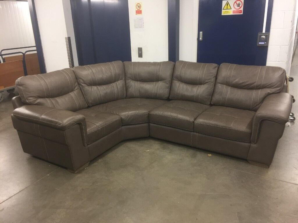 best website 436dc 7b3cc New/Ex-Display Dark Grey Leather Corner Sofa - Delivery Available! | in  Leeds, West Yorkshire | Gumtree