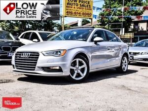 2015 Audi A3 AWD*SLine*Leather*Xenon*PanoRoof*AudiWarranty*