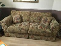 Stylish fabric sofas(3+2+1) Seater and large footstool