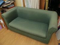FREE SOFA 90s Habitat 2 Seater Sofa with Green Custom Cover