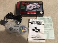 Snes controller - boxed mint condition