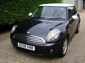 2008 (08) Mini Cooper 1.6 6 Speed Superb Condition. Metallic Black 2008 6 Month Guarantee P/X Poss
