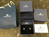 Genuine Swarovski earrings, worn once with all packaging