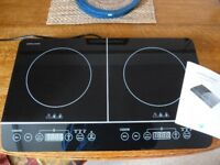 Andrew James Double Electric Induction Hob, brand new, unused