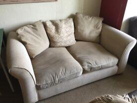 Sofa - Large DFS Brown Sofa