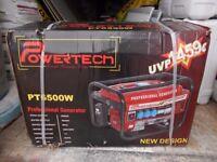 BNIB Powertech PT6500w Professional Generator. Petrol.