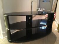 Black Glass TV stand from John Lewis. Great condition