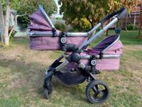 ICandy Peach 3 Double 2 Carrycots twin buggy pushchair
