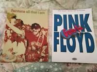 Guitar tab books pink Floyd and santana