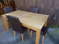 Dining Table and Four Chairs Delivery Available