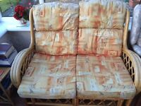 CONSERVATORY PINE FURNITURE 3 PIECE SUITE ; 2 SEATER & 2 x SINGLES