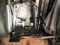 Powertec back machine and squat rack