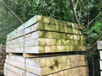 8ftx4x4 (2.4mx100 x 100) wooden posts