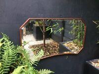 Vintage Bevelled Mirror Retro