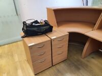2 3-drawer Office Pedestals in Honeycomb