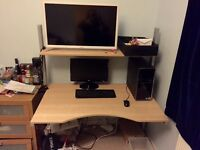 Office chair and table used in bedroom cheap! - quick sale