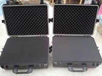 2x Hard Shell Tool Test Equipment Camera Cases Foam 515x435x225MM Large Motorbike Panniers